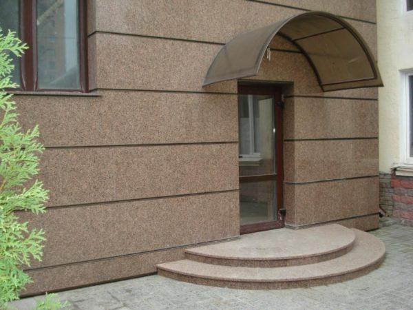 Фасад из гранита — преимущества, сырье, цена