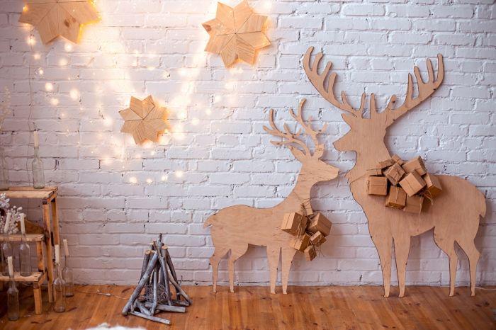 как украсить стены на новый год своими руками