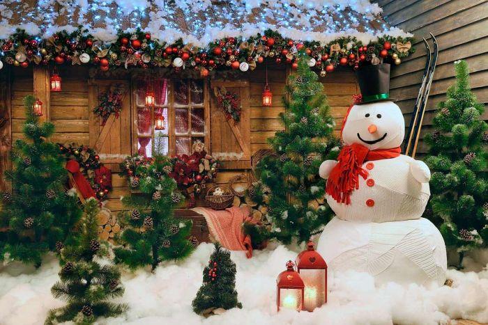 украшение придомовой территории на новый год